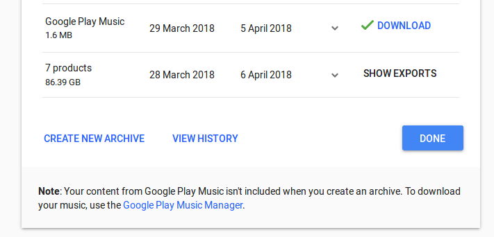 google checkout small print - you can't download your music
